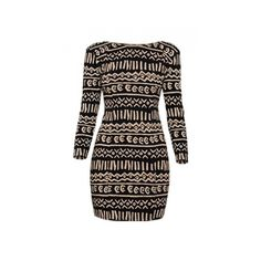 Wilfred Elise Dress in Tribal ($65) ❤ liked on Polyvore featuring dresses, vestidos, tribal, women, graphic print bodycon dress, wilfred dress, brown dress, graphic dresses and lycra dress