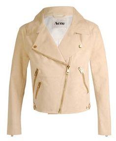 Browns fashion & designer clothes & clothing | ACNE | 'Rita' brushed suede biker jacket - StyleSays