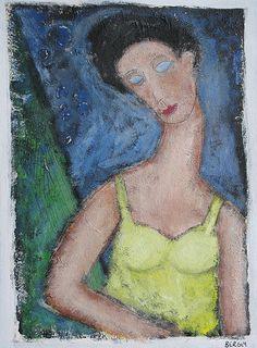 Woman In Yellow Dress by scott bergey
