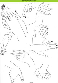 Fashion Design Drawing - Fashion Sketches Arms And Hands Part 1