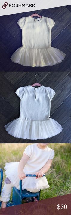 Baby GAP Tutu Sweater Dress, Ivory Baby GAP Tutu Sweater Dress, Ivory, 6-12 months, literally worn once by my daughter for her one year photo shoot before she outgrew it! Paid full price, flawless condition. Smoke and pet free home. Adorable for Fall/Winter/Holidays. Super cute paired with a fur vest too! GAP Dresses Casual