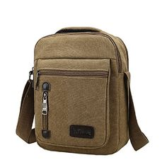 Urmiss Classic Canvas Messenger Bag Small Travel School Crossbody Bag for  iPad and Tablet -- 2735dd4de6a56