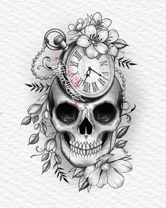 Skull Tattoos, Tatoos, Catrina Tattoo, Flower Skull, Tattoo Designs, Tattoo Ideas, Mandala, Wicca, Tatting
