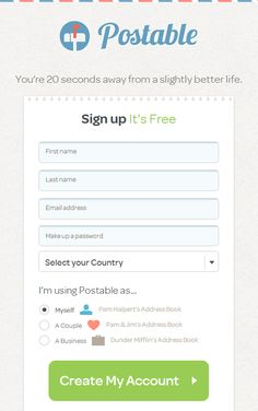 Postable-  it sends beautifully designed thank-you cards by email for you.