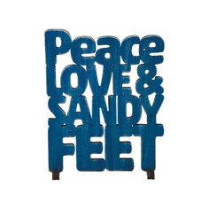 Peace, love and sandy feet—sounds pretty good to us. Whether this is your everyday life or not, we can all appreciate the summertime sentiment of this Beach House Word Art. Finished in navy blue with l...  Find the Beach House Word Art in Navy, as seen in the Vintage Surf Style Collection at http://dotandbo.com/collections/vintage-surf-style?utm_source=pinterest&utm_medium=organic&db_sku=106741