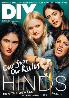 Featuring artists doing it their way - Hinds, Run The Jewels, Father John Misty, Shamir and more. Plus on tour with Wolf Alice and Drenge, a look forward to the new albums coming in 2016 and lots more. Magazine Cover Design, Magazine Covers, Run The Jewels, Father John, November 2015, Album, Music, Diy, Musica