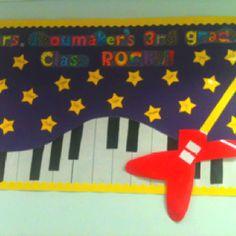 3rd grade rocks bulletin board!