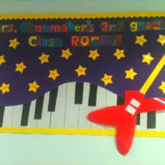 3rd grade rocks bulletin board!