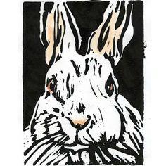 Easter Easter Rabbit Wall Art Art Print Easter Bunny by 3StreetArt