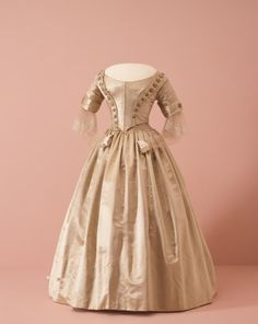 Dress (three pieces, bodice, skirt and pelerine)  (c. 1842)  Artist/s name ENGLAND   Medium silk, linen, bone, metal Place/s of Execution England Accession Number 748.a-c-D4 Credit Line National Gallery of Victoria, Melbourne