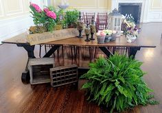 Farmhouse Trestle Table at Wedding Crawl