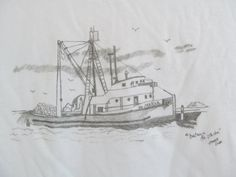 Original Drawing T-Shirt Fishing Boat Mens by ACreativeDrawing, $30.00 Pencil Art, Fishing Boats, My Arts, The Originals, Drawings, Artwork, Shirt, Work Of Art, Auguste Rodin Artwork