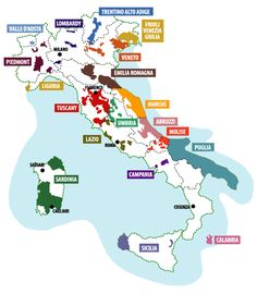 Italian wine country map and make sure you taste the local wine #monogramsvacation