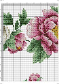 "ru / kento - Альбом ""Α Counted Cross Stitch Patterns, Cross Stitch Embroidery, Peony Flower, Cross Stitch Flowers, Tribal Art, Needle And Thread, Cross Stitching, Flower Patterns, Peonies"
