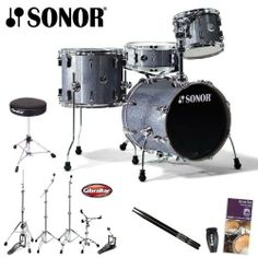 Sonor Safari Black Sparkle Drum Kit with Gibraltar Hardware, Gibraltar Drum Throne, Evans Drumset Survival Guide, LP Rumba Shaker and Vic Firth/GoDpsMusic Nova Drumsticks . $589.00. The Sonor Safari is a very portable 4-piece drum set that brings out the best in your drumming. The compact size, combined with the uncompromising commitment by Sonor to sound quality makes Safari the perfect kit for practice, rehearsals, gigs and sessions. Play it live and pack it up ...