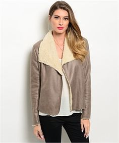 Bronze Faux Sheep Skin Jacket
