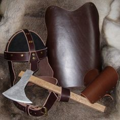 Child's Viking Suit of Leather Armor. Available from Medieval Fantasies Company.