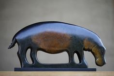 Hippopotamus Clan Totem by Jon Buck Hippopotamus, Animal Sculptures, Centre, National Parks, Ceramics, Gallery, Animals, Art, Sculpture
