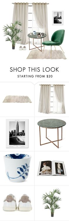 """""""READING NOOK"""" by nanna-holm ❤ liked on Polyvore featuring interior, interiors, interior design, home, home decor, interior decorating, Olivine, Gubi, Royal Copenhagen and Abrams"""
