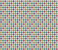 Doodle Owl - Rainbow fabric by happysewlucky on Spoonflower - custom fabric