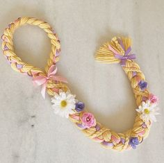 Rapunzel Braid Rapunzel costume Tangled by FlowershopCrowns                                                                                                                                                                                 More