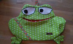 Wäscheklammerbeutel Frosch Handarbeit Klammerbeutel selbst genäht