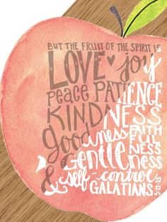 Fruit of the Spirit O(∩_∩)O