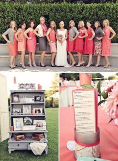 gorgeous pink + grey wedding color inspiration