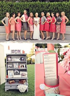 gorgeous pink + grey wedding color inspiration