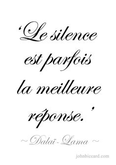 ♔ Silence is sometimes the best answer