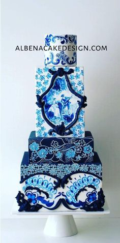 Art Cakes, Cake Art, Painted Cakes, Decorated Cakes, Unique Cakes, Creative Cakes, Beautiful Wedding Cakes, Beautiful Cakes, Wedding Cake Inspiration