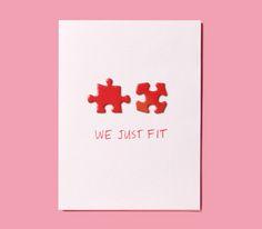 DIY Valentine, puzzle pieces