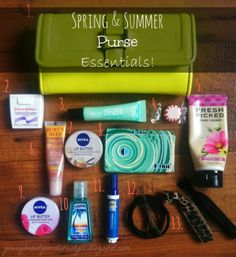 School Bag Essentials Purse Summer
