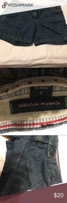 Tommy Hilfiger denim shorts. Size 2 Nice denim shorts. Size 2. Non-smoking home. Tommy Hilfiger Shorts Skorts