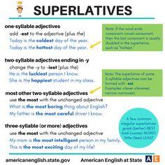 SUPERLATIVES in English #learnenglish https://plus.google.com/+AntriPartominjkosa/posts/9nwjNz8N786