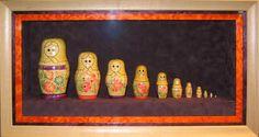 Belmar Frame & Art: Framing Russian Dolls (Matryoshka Doll) Matryoshka Doll, Regional, Custom Framing, Framed Art, Etsy Shop, Dolls, Artist, Projects, Painting