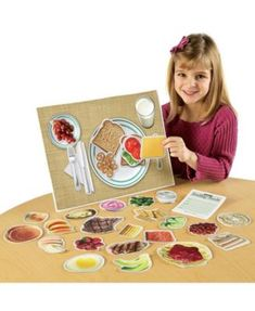Your kids can help you plan the week's dinner menu with this set of magnetic, illustrated foods from the main food groups of the USDA Food Pyramid Guidelines to Nutrition. Healthy Food Choices, Healthy Recipes, Healthy Foods, Healthy Habits, Clean Eating Snacks, Healthy Eating, Healthy Plate, Main Food Groups, Nutrition Activities