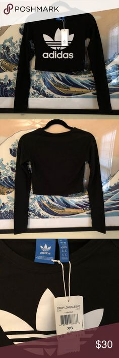 Adidas Long Sleeve Crop Top XS. New With Tags!! adidas Tops Crop Tops