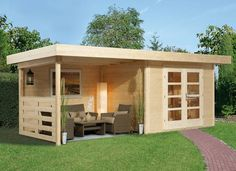 Blokhutten, Moderne Blokhut, Tuinhuis Aura