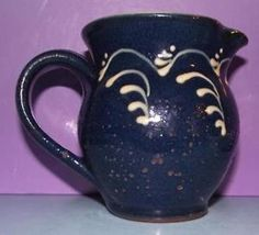 Antique Wetheriggs Pottery Slipware Milk Jug a. blistering to glaze in Pottery, Porcelain & Glass, Pottery, Regional