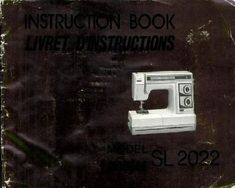 New Home Janome SL-2022 Sewing Machine Instruction Manual