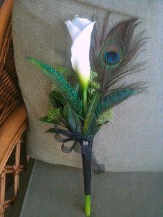 Peacock Swords Bridesmaid bouquet