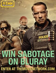 Win 'Sabotage' on Blu-ray from The Movie Network.#Giveaway #PinItToWinIt starring #arnoldschwarzenegger