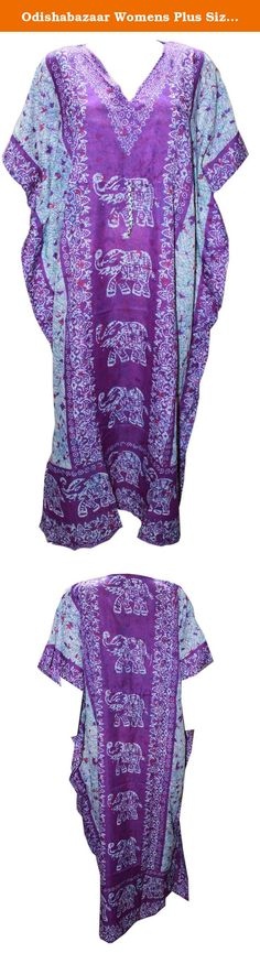 Odishabazaar Womens Plus Size Boho Hippie Floral Print Kaftan Dress Dori On Waist (multi-4). This Long Kaftan captures the essence of effortless femininity with luxurious element perfect for an exotic escape, a relaxed day at the beach, or an effervescent night on the town, or as a perfect sleepwear.