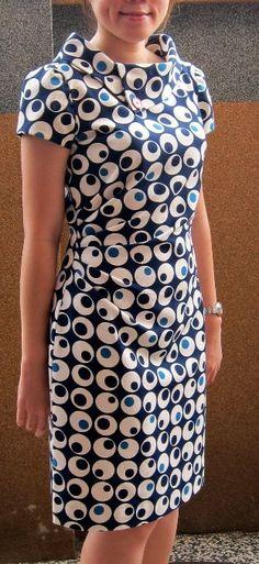 New Look 6000 - looks comfortable and office suitable Stylish Dresses, Simple Dresses, Casual Dresses, Fashion Dresses, Dresses For Work, Kurti Neck Designs, Blouse Designs, Mode Batik, Batik Dress