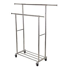 Bed Bath And Beyond Garment Rack Enchanting Buy Whitmor 2Tier Flared Rolling Garment Rack In Black From Bed 2018