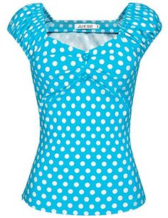 JUESE Women's 1950's Sweetheart Cocktail Party Casual Top...