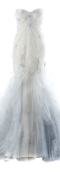 Zac Posen ● Gray Hand Painted Gown...wow!!!!