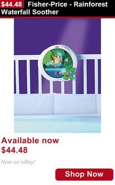 Crib Toys: Fisher-Price - Rainforest Waterfall Soother BUY IT NOW ONLY: $44.48