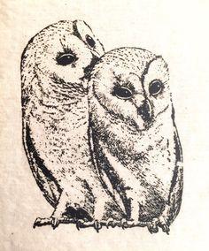 Sister Owls patch by LimberlostArts on Etsy